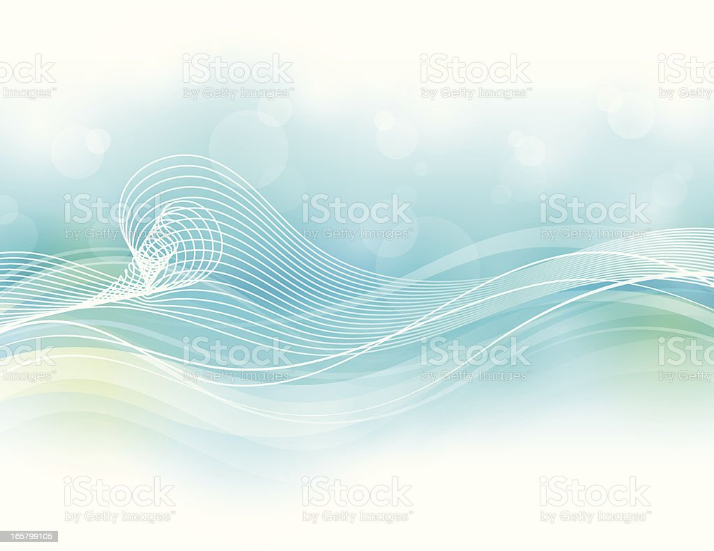 Soft Wave Background royalty-free stock vector art