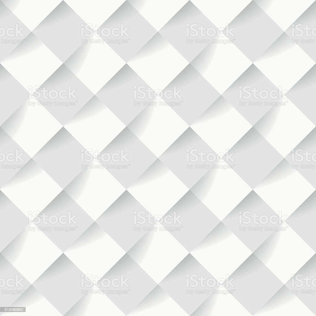 Soft White Square Pattern Wallpaper Background Royalty Free