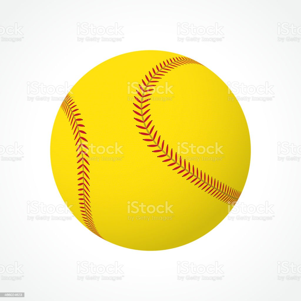 Softball ball vector art illustration