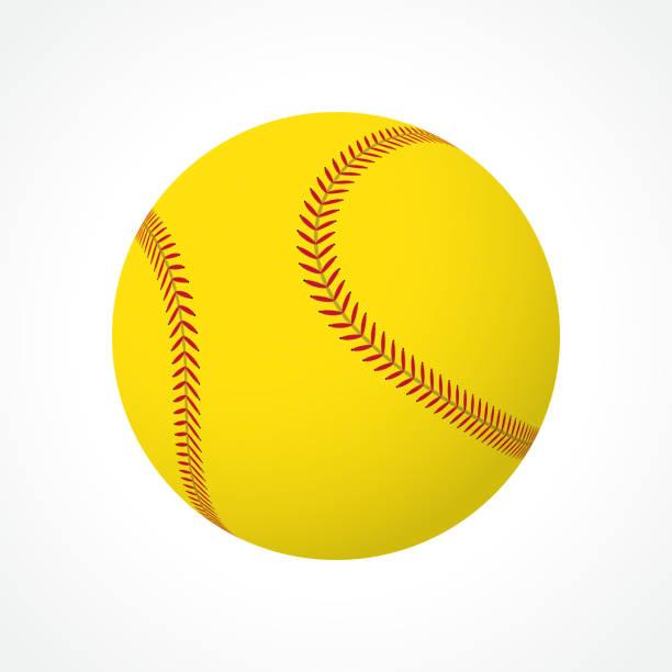 ソフトボールボール - ソフトボール点のイラスト素材/クリップアート素材/マンガ素材/アイコン素材