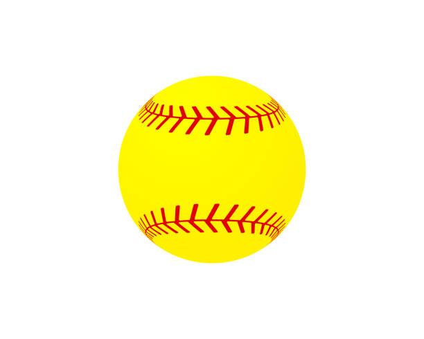 ilustraciones, imágenes clip art, dibujos animados e iconos de stock de vector de pelota de softbol - sófbol