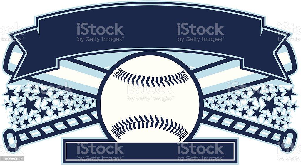Softball Baseball Design royalty-free stock vector art