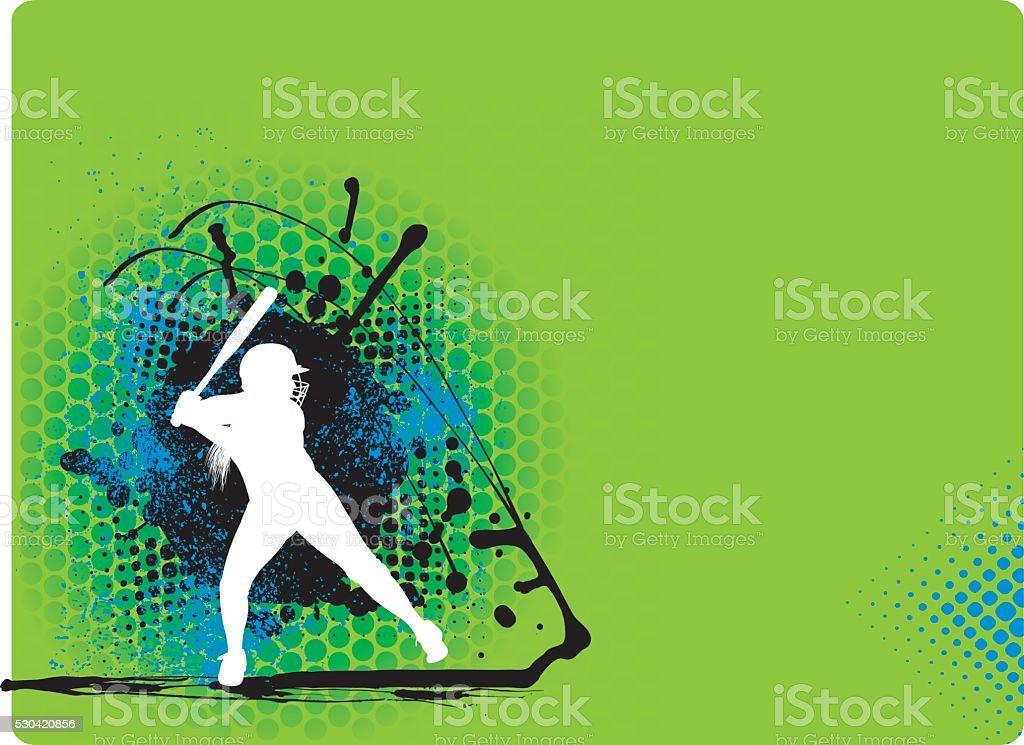 Softball Ausbackteig Mädchen Team Sport Hintergrund – Vektorgrafik