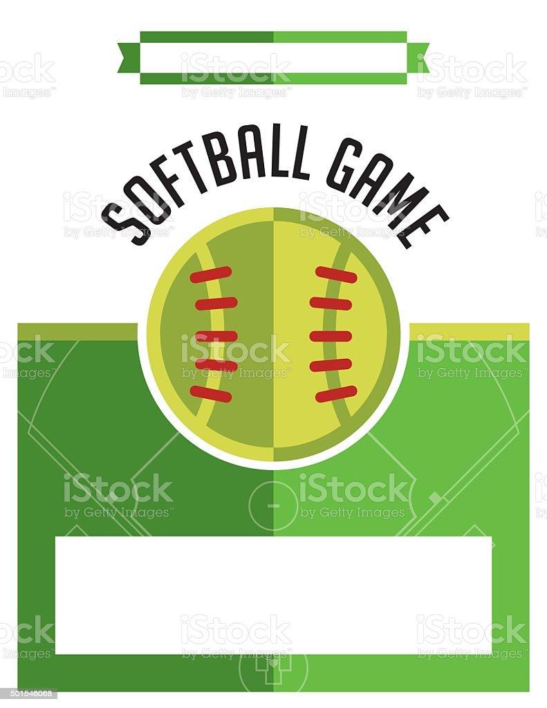 Softball Game Flyer Illustration vector art illustration