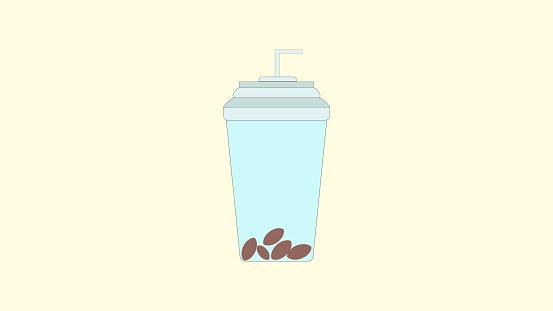 Softdrink glass design vector icon