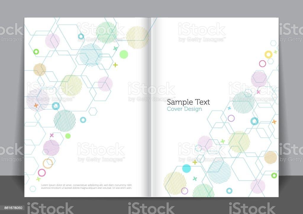 Softness Cover design vector art illustration