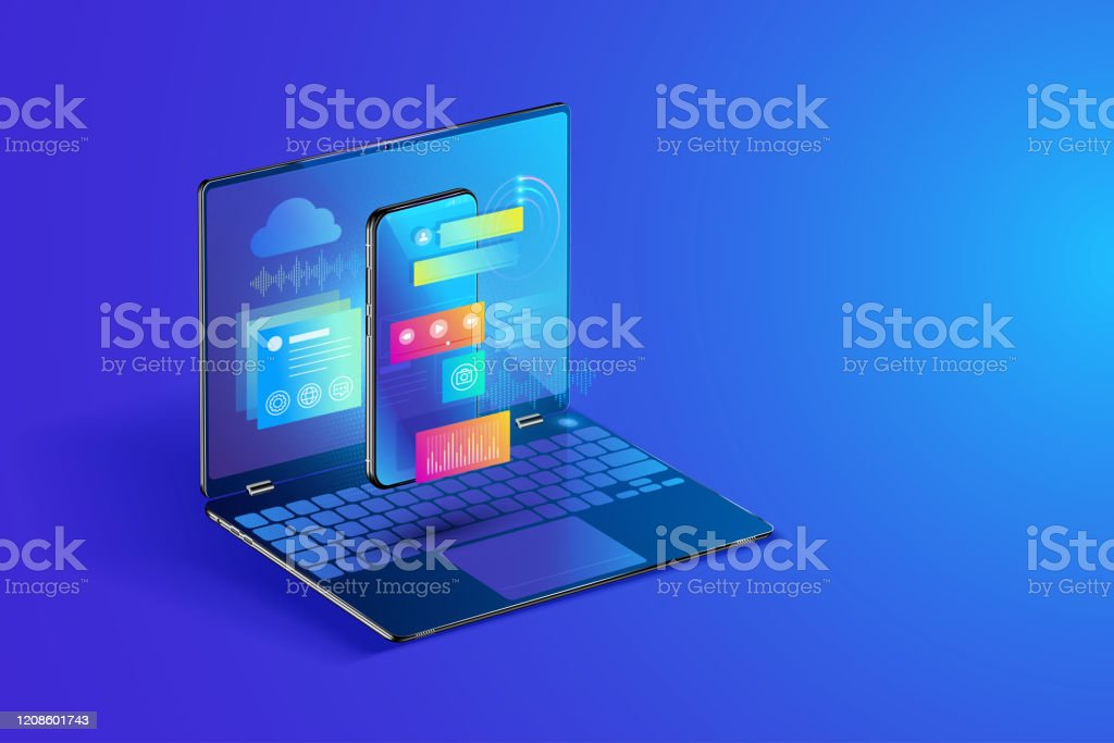 Software And Mobile Application Development Web Page Layout Design For Multi Devices Coding And Programming On Laptops Concept Isometric Design Stock Illustration Download Image Now Istock