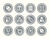 Icon Set for web and print applications, created in one color with Adobe Illustrator.