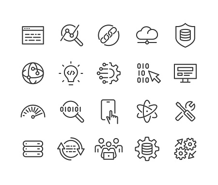 Software and Technology Icons - Classic Line Series