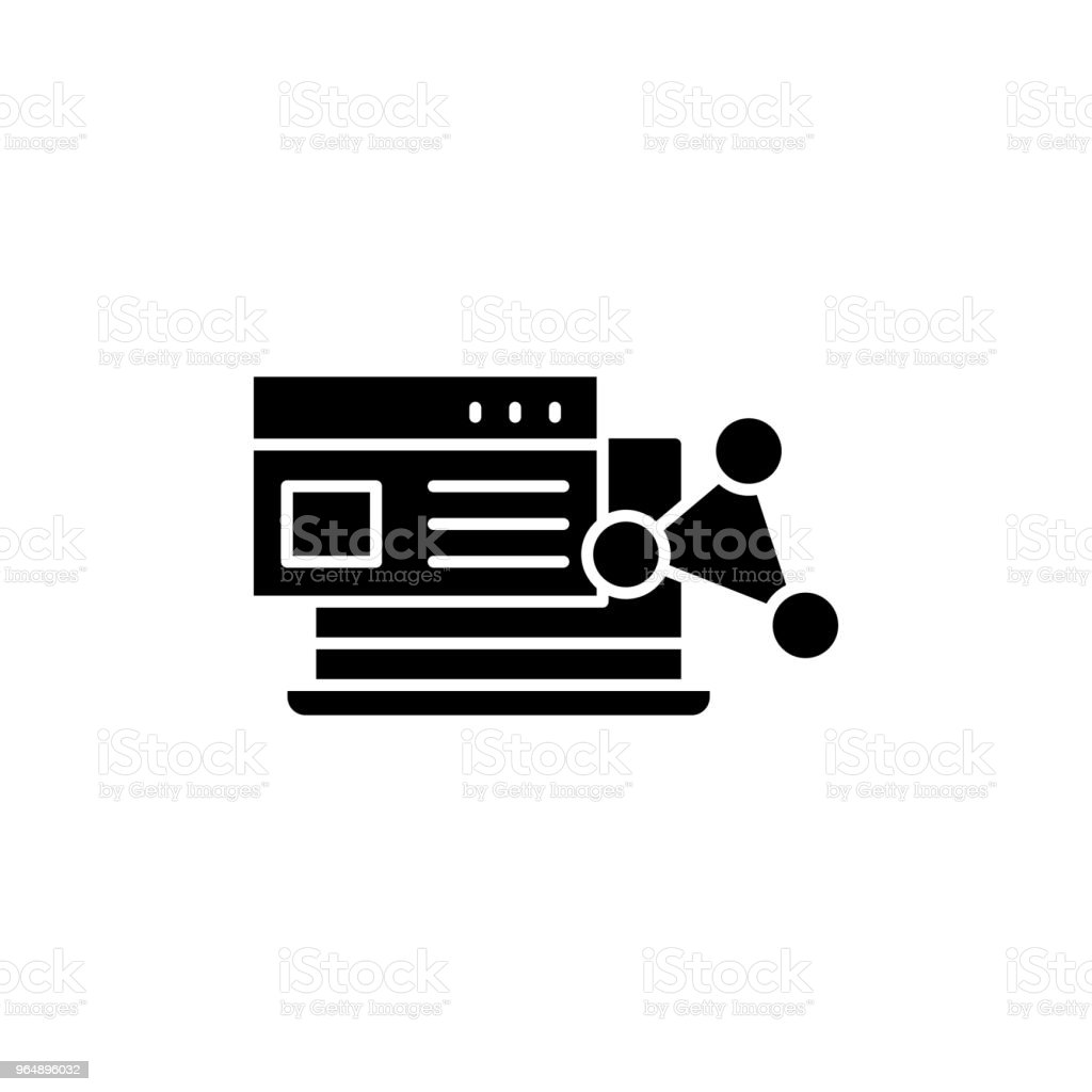 Software black icon concept. Software flat  vector symbol, sign, illustration. royalty-free software black icon concept software flat vector symbol sign illustration stock vector art & more images of business