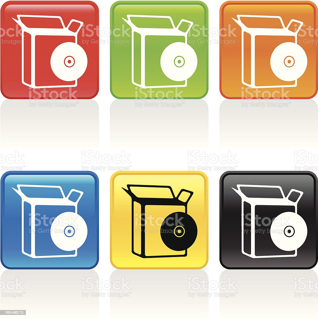 Software Box Icon royalty-free software box icon stock vector art & more images of black color