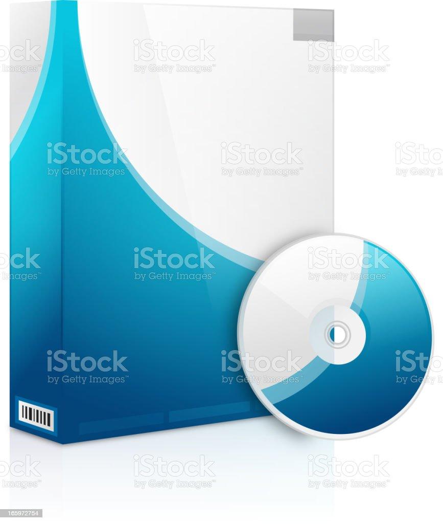 Software box vector art illustration