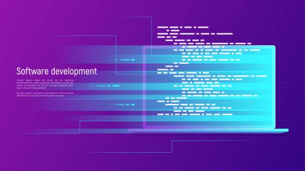 Software development, programming, coding vector concept Software development, programming, coding vector concept Global swatches software developer stock illustrations