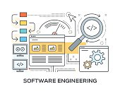 Software Engineering Concept with icons