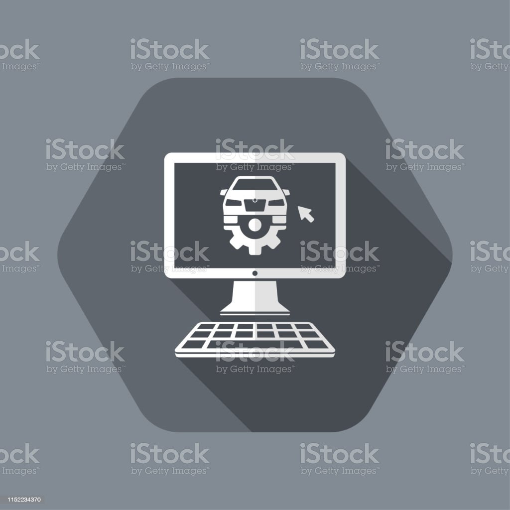 Software For Car Engine Check Stock Illustration Download Image Now Istock
