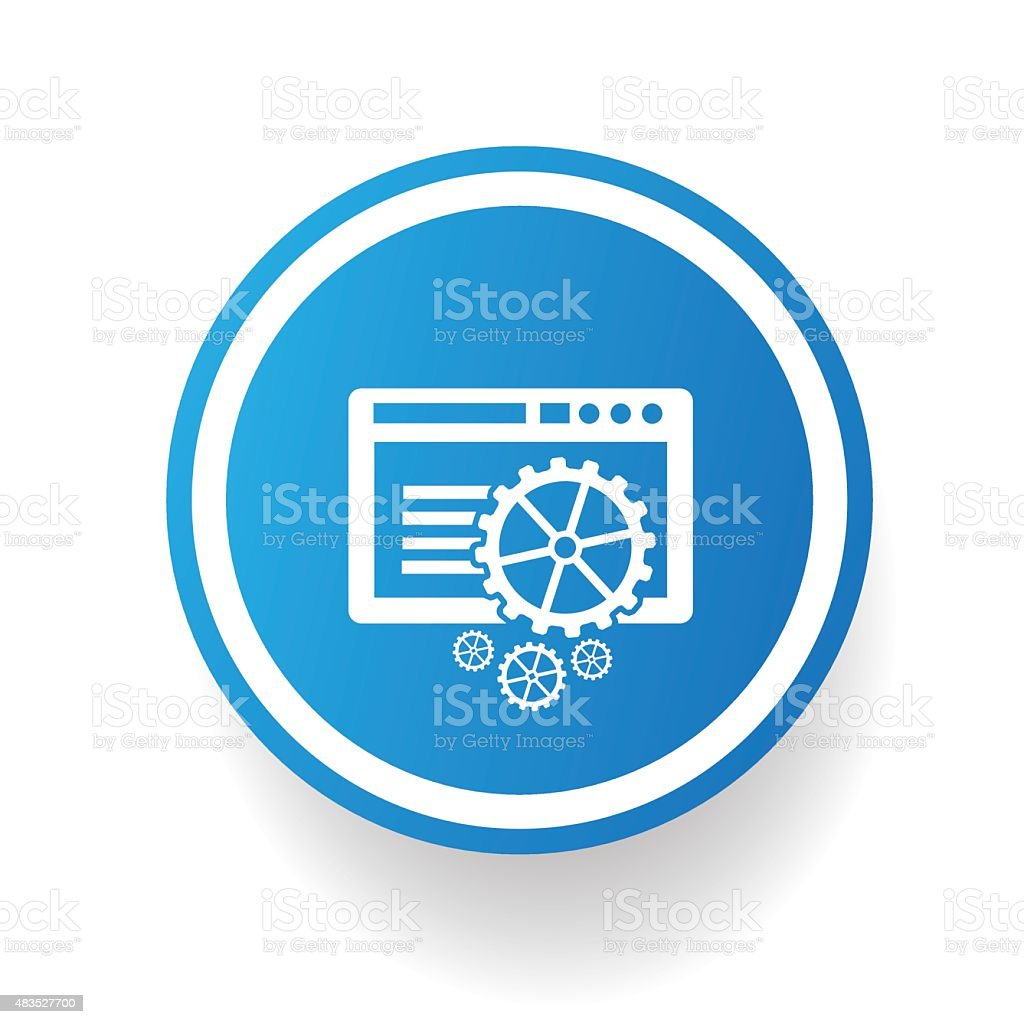 Software On Blue Button Designclean Vector Stock Illustration - Download  Image Now