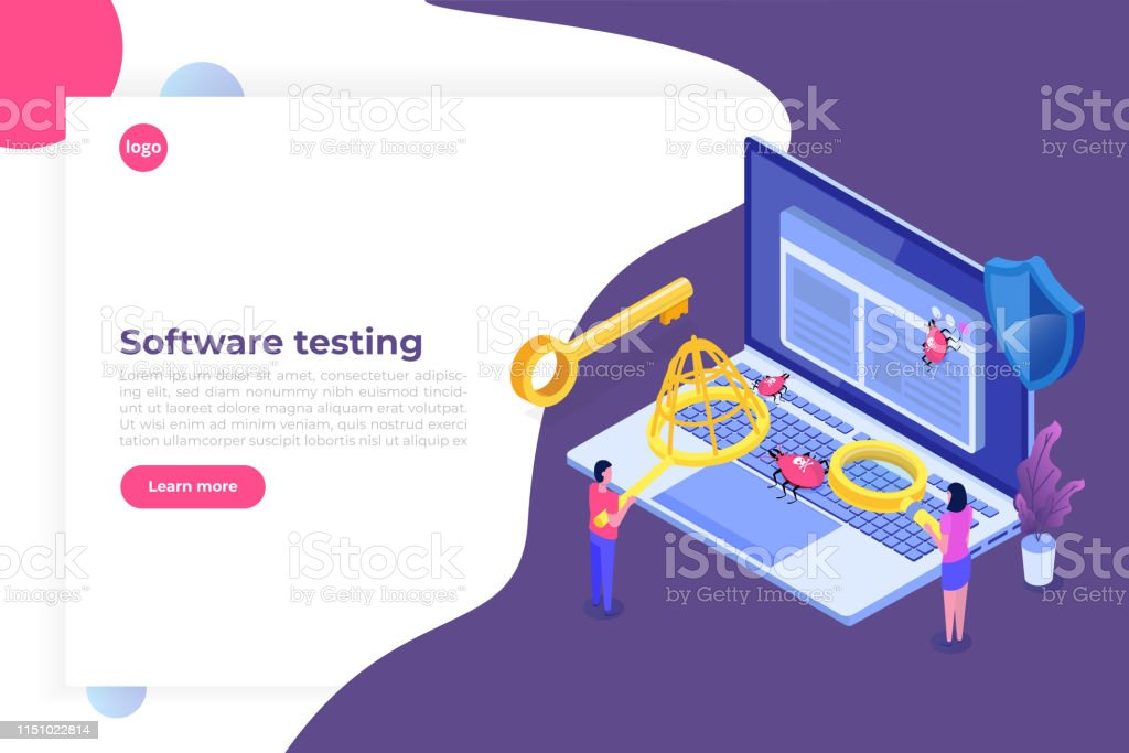 Software Or Application Testing Isometric Vector Concept