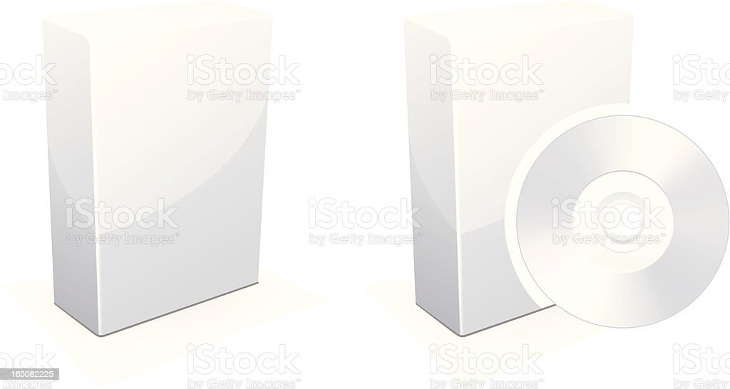 Software  packaging royalty-free stock vector art