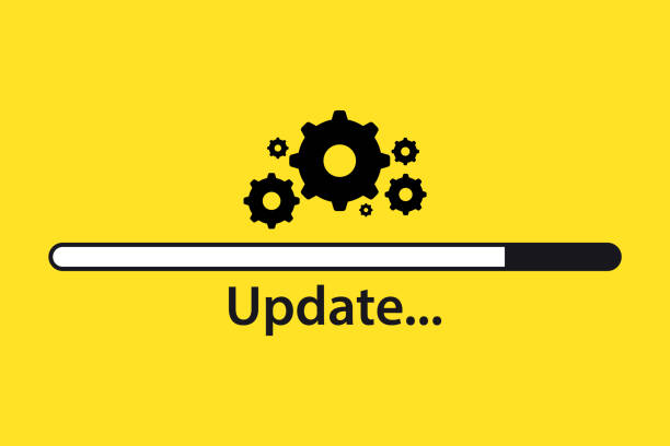 Software update. Loading process. Upgrade concept. Vector illustration in flat style. Upgrade Update Refresh. Loading process.Concept of upgrade application progress icon for graphic and web design Software update. Loading process. Upgrade concept. Vector illustration in flat style. Upgrade Update Refresh. Loading process.Concept of upgrade application progress icon for graphic and web design software update stock illustrations