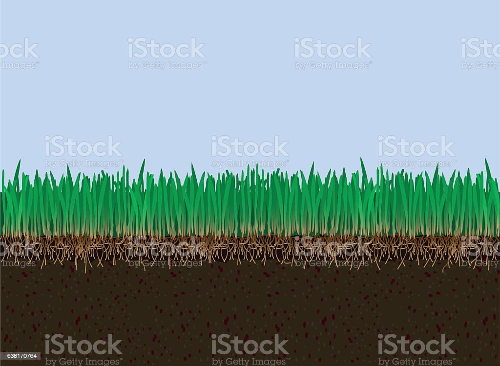 Soil and grass - Royalty-free Agricultural Field stock vector