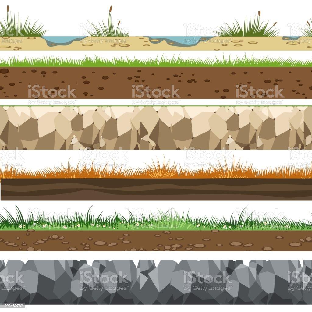 Soil horizontal patterns royalty-free soil horizontal patterns stock illustration - download image now