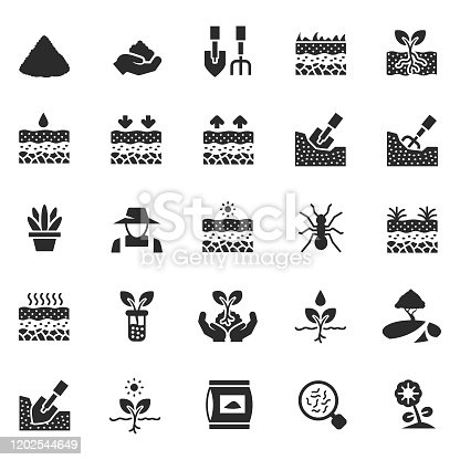 Soil icon set