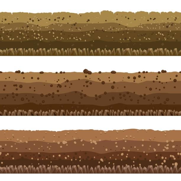 土壤層設置 - 陸地 幅插畫檔、美工圖案、卡通及圖標