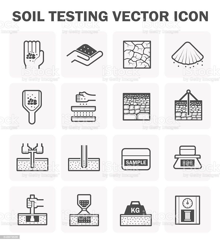 Soil test icon vector art illustration