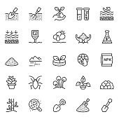 Soil vector icon set