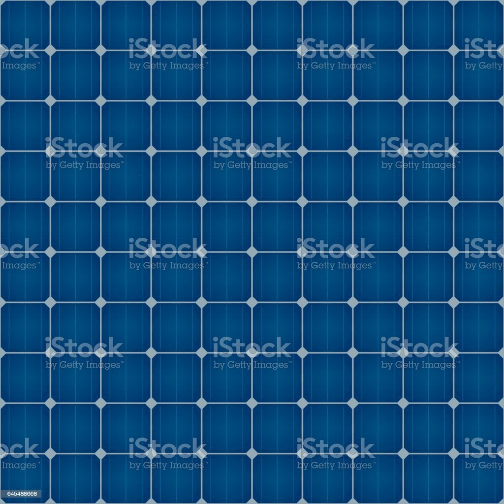 Solar Cells Seamless Pattern For Roof Solar Power Panel Design. vector art illustration