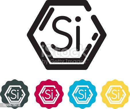 istock Solar Cells Silicon Element Icon 1093678916