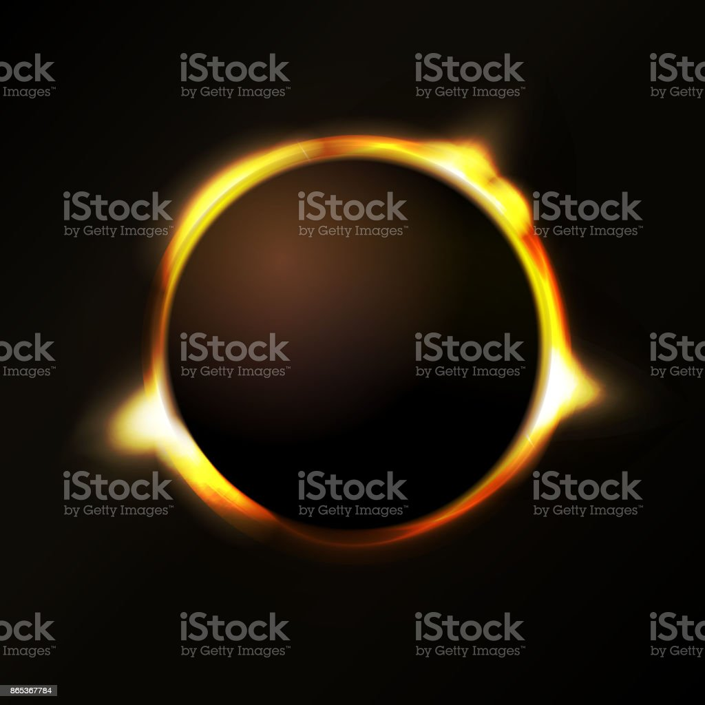 Solar Eclipse Background vector art illustration