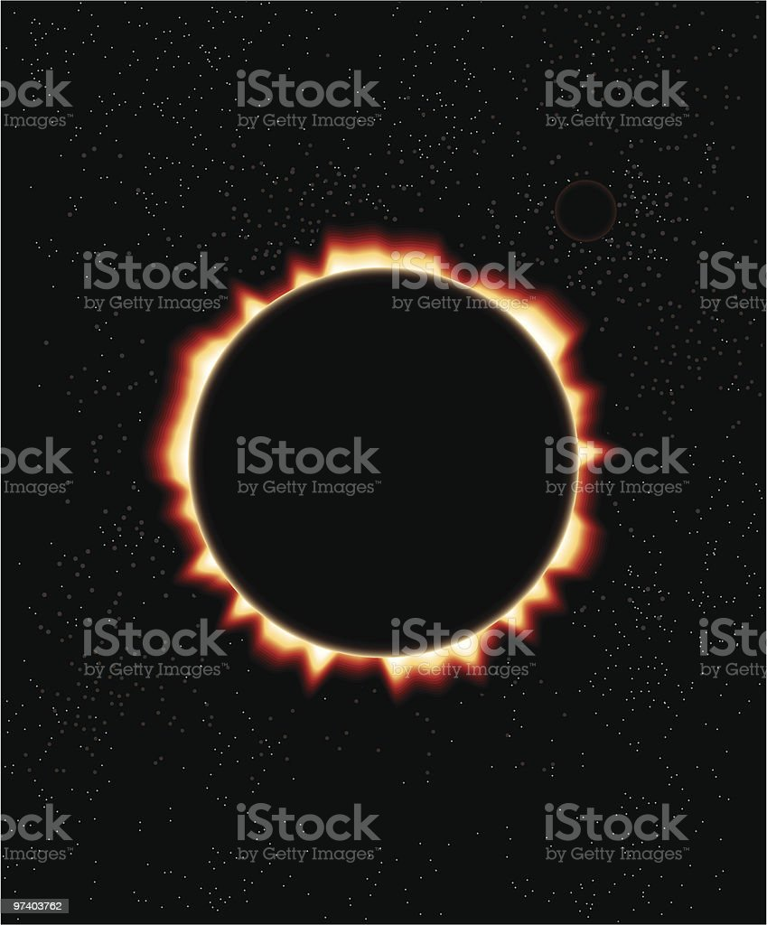 Solar Eclipse royalty-free stock vector art