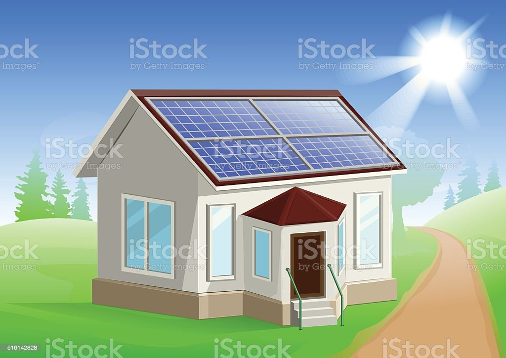 Solar Energy Caring About Environment House With Solar