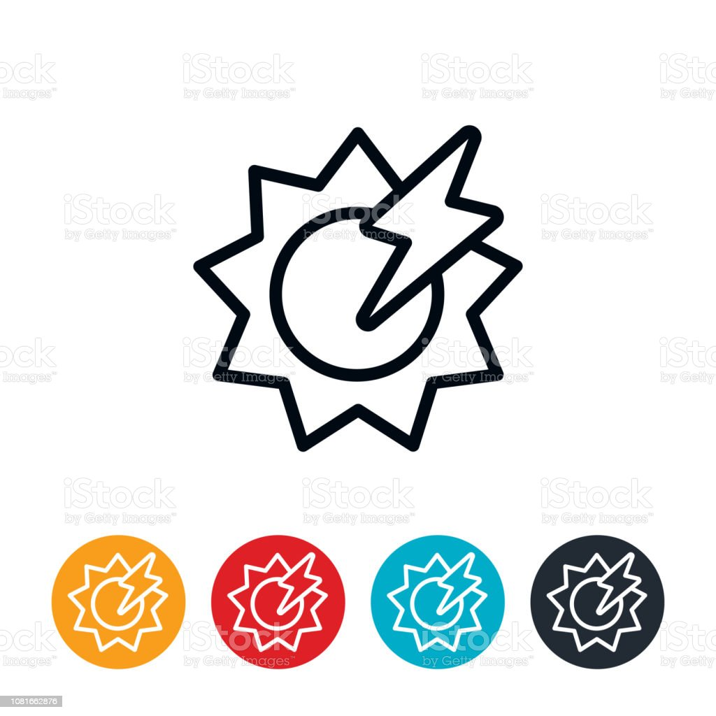 Solar Energy Icon vector art illustration