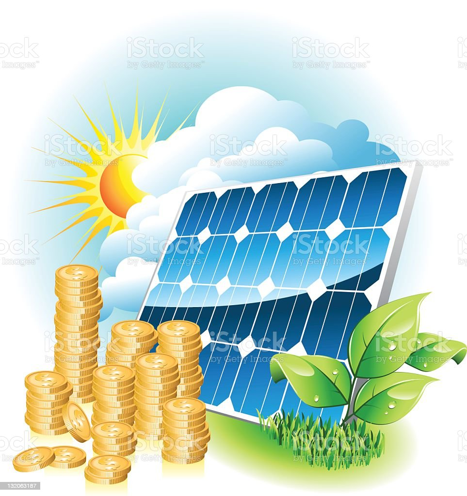 solar energy royalty-free solar energy stock vector art & more images of cloud - sky