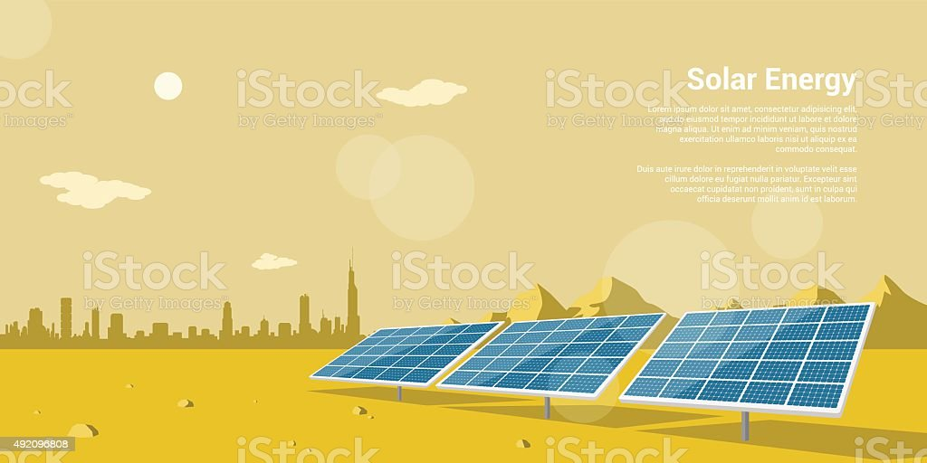 solar energy vector art illustration