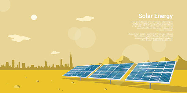 solar energy - solaranlage stock-grafiken, -clipart, -cartoons und -symbole