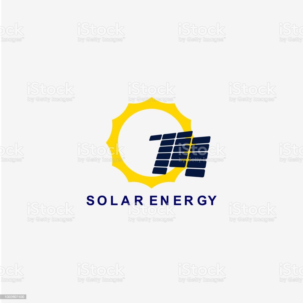 Solar Energy Vector Template Design Illustration royalty-free solar energy vector template design illustration stock illustration - download image now