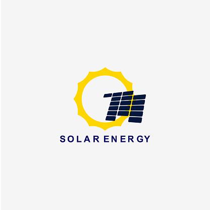 Solar Energy Vector Template Design Illustration Stock Illustration - Download Image Now