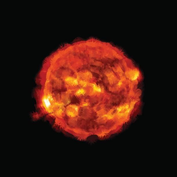 illustrazioni stock, clip art, cartoni animati e icone di tendenza di solar flares - flare