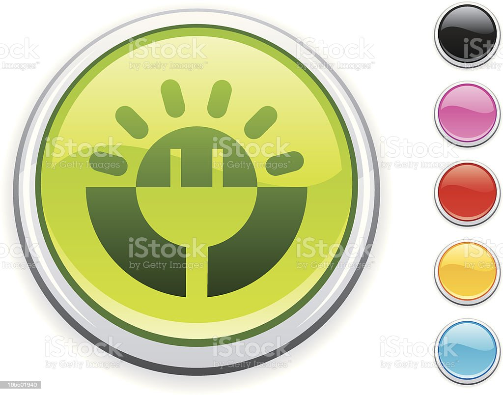 solar icon royalty-free stock vector art