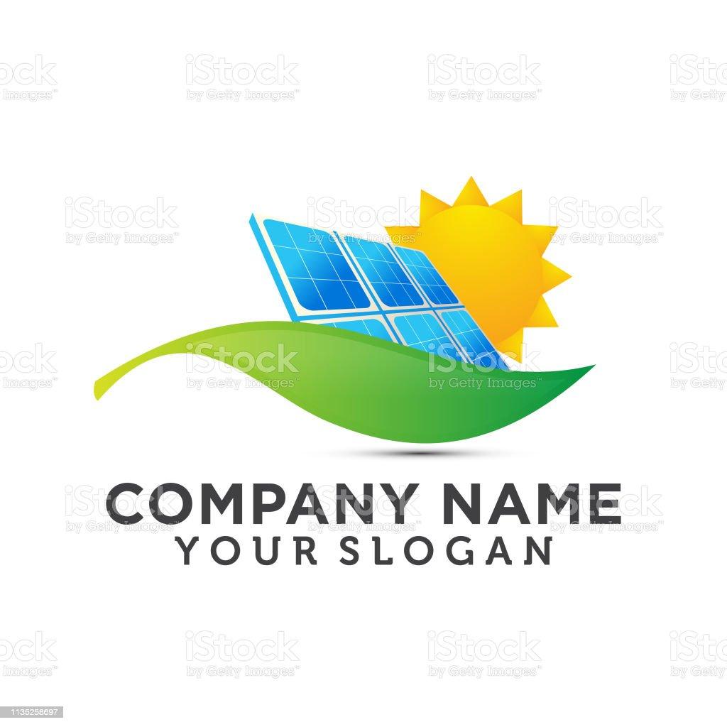Solar On House And Sun Logo Template Save Energy Green Power