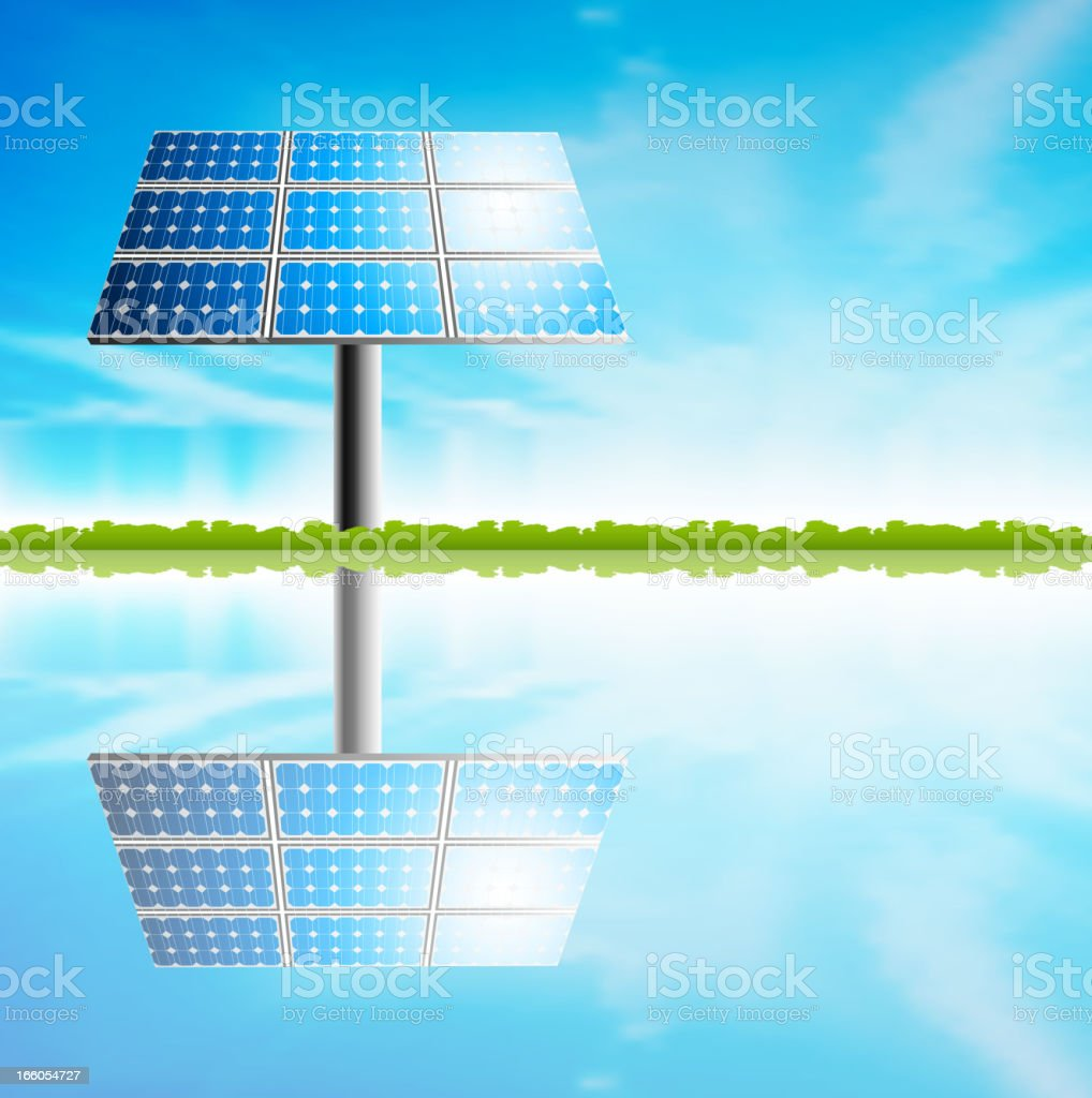 Solar panel and sunny day royalty-free solar panel and sunny day stock vector art & more images of alternative energy