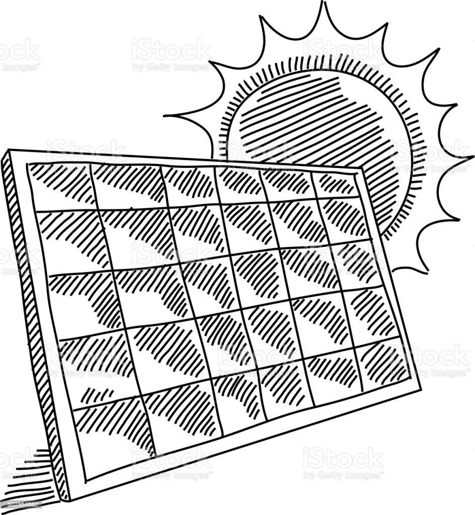 Pannello Solare Goal Zero : Pannello solare disegno immagini vettoriali stock e