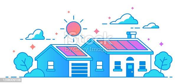 istock Solar Panel Home 1258009106