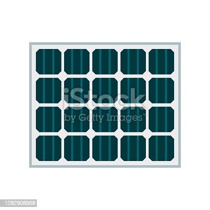 istock Solar Panel Icon on Transparent Background 1282908958