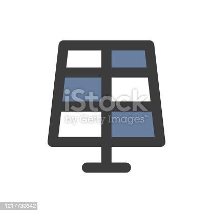 istock Solar panel icon 1217730342