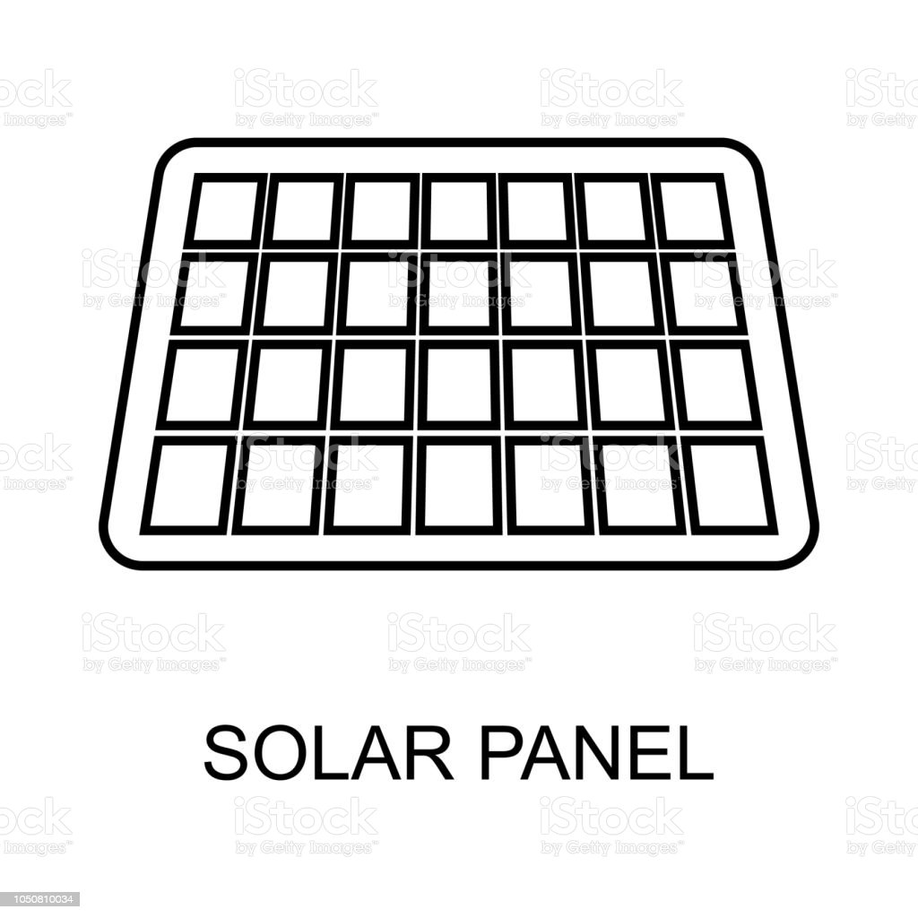 Solar Panel Outline Icon Element Of Enviroment Protection Icon With