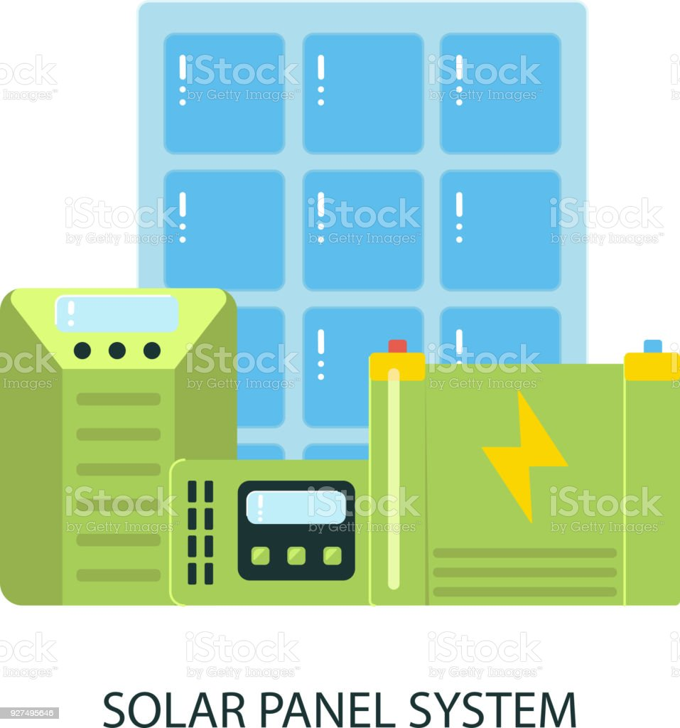 Solar Panel System Equipment Stock Vector Art & More Images of ...